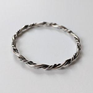 Jewelry - Silver Twisted Wire Bangle Bracelet